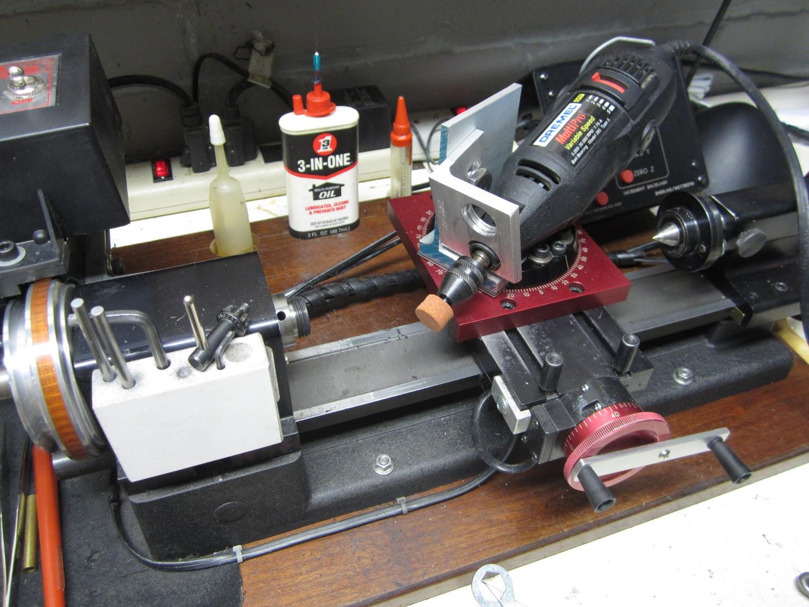 MI Shop Tools Inventions Sherline Lathe Dremel grinder