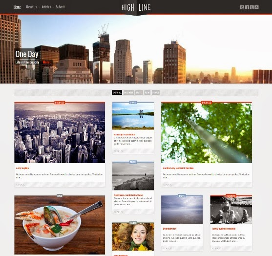 Highline Responsive Joomla Template