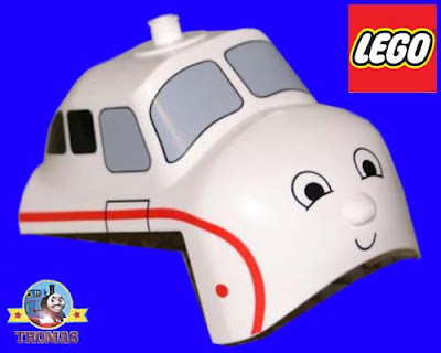 Thomas LEGO train set toys Harold the Helicopter White block brick section chopper Duplo vehicle cab