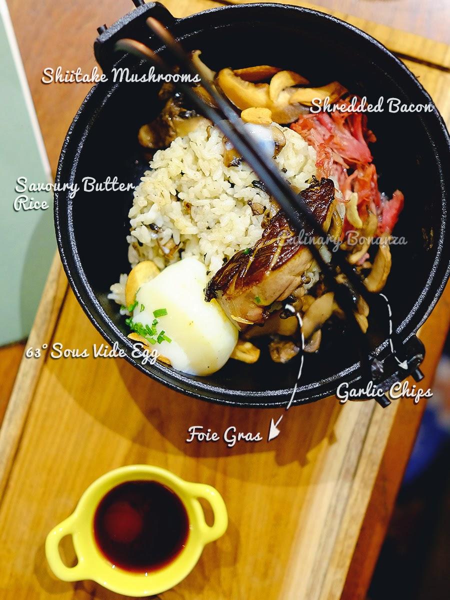 Foie Gras Rice - Benedict Jakarta (source: www.culinarybonanza.com)