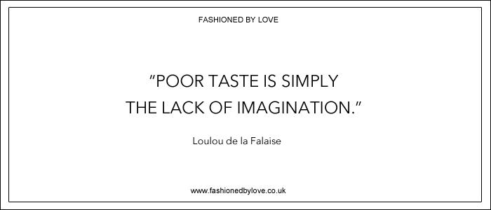 via fashioned by love | best fashion & style quotes | Loulou de la Falaise