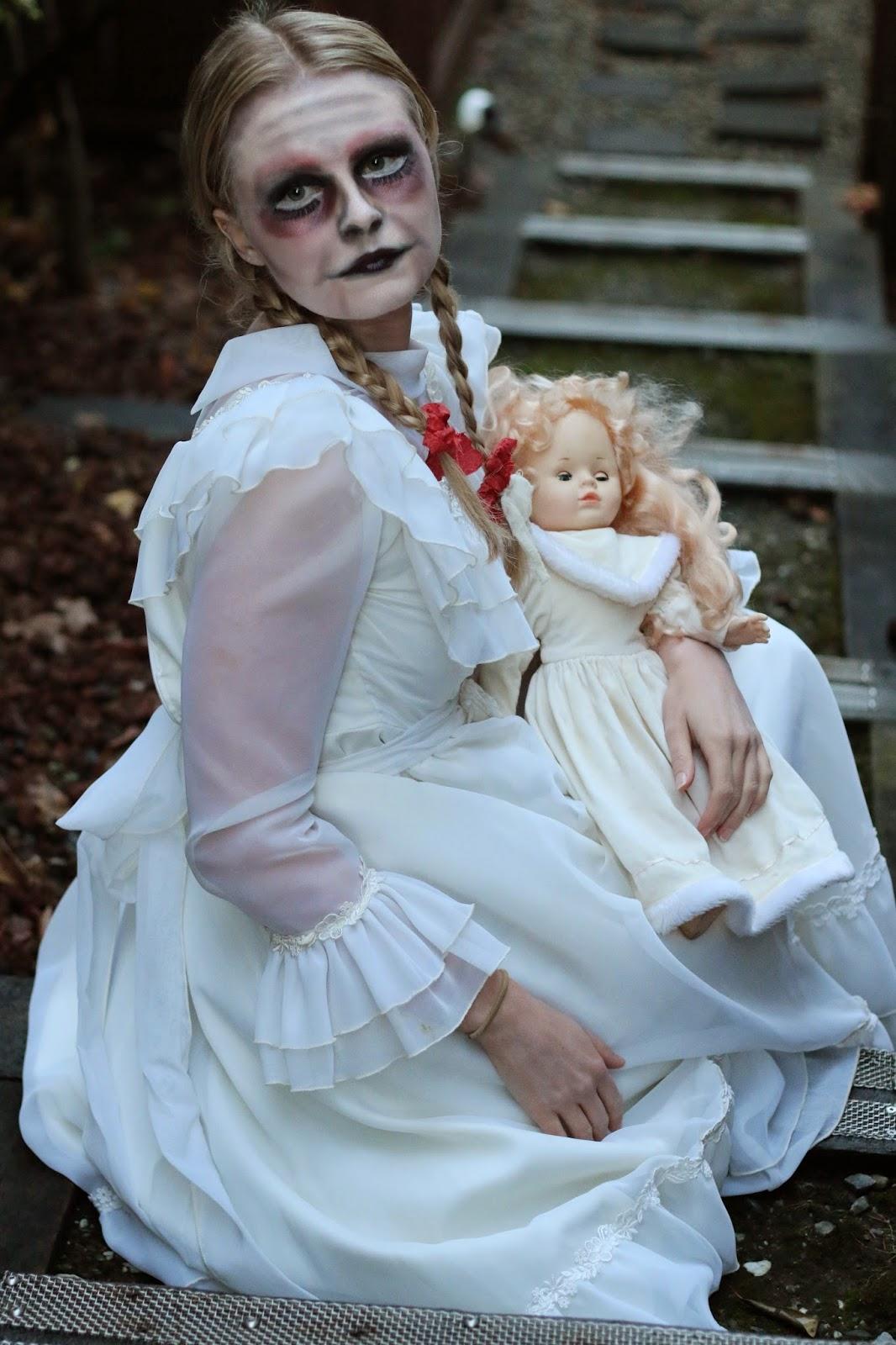 creepy little girl makeup