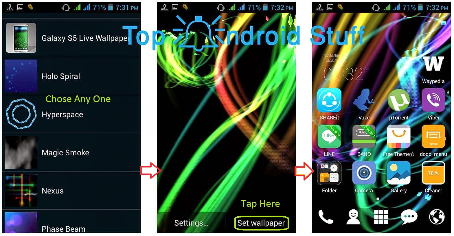 how to change android settings theme