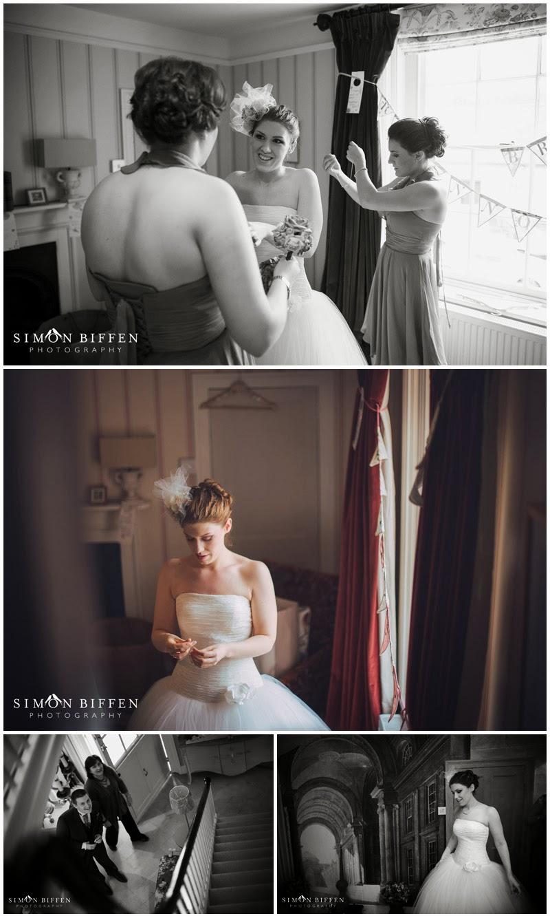 Bridal preparations at Blackthopre Barn
