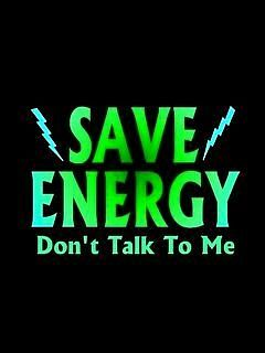 Save energy, don't talk to me Scrap Photo