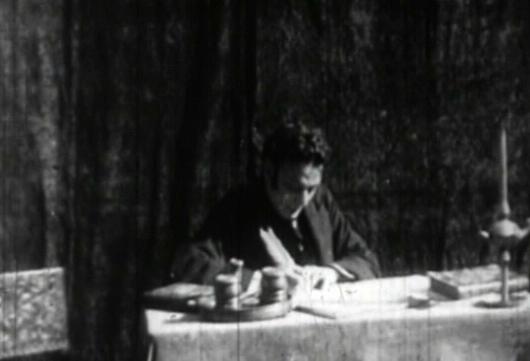 El actor Eliseo Gutiérrez como Vicente López y Planes en 'La creación del himno'