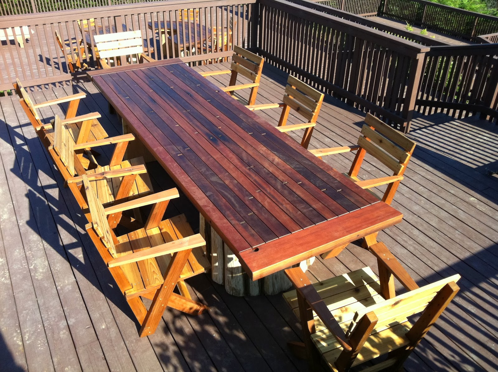 mathew isaac 39 s woodworks salvaged redwood patio furniture