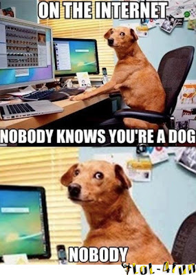 Funny dog with the web name doogle