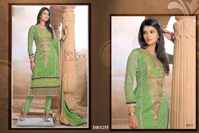Sayali Bhagat In Chanderi Cotton Dress Material – Supplier