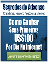 Ganhe pelo menos $100 dólares por dia na internet com Google AdSense