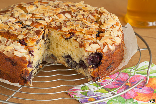 blauwe bessen cake recept