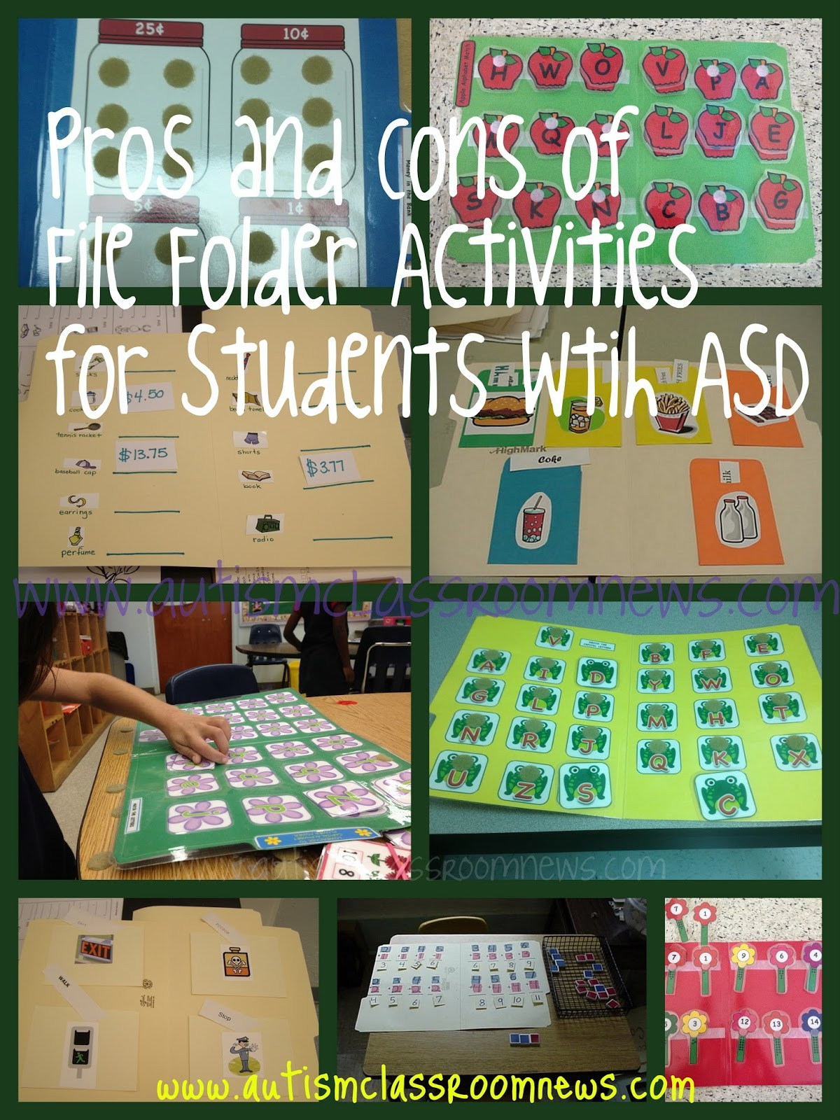 Classroom Ideas For Autistic Students ~ The pros and cons of file folder activities for students