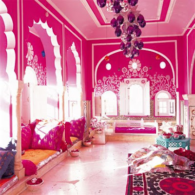 Decoración de la Sala con mucho Color