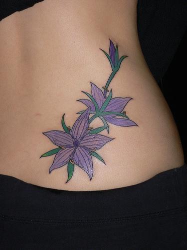 free tattoo pictures tribal flower tattoos depict feminine body art. Black Bedroom Furniture Sets. Home Design Ideas