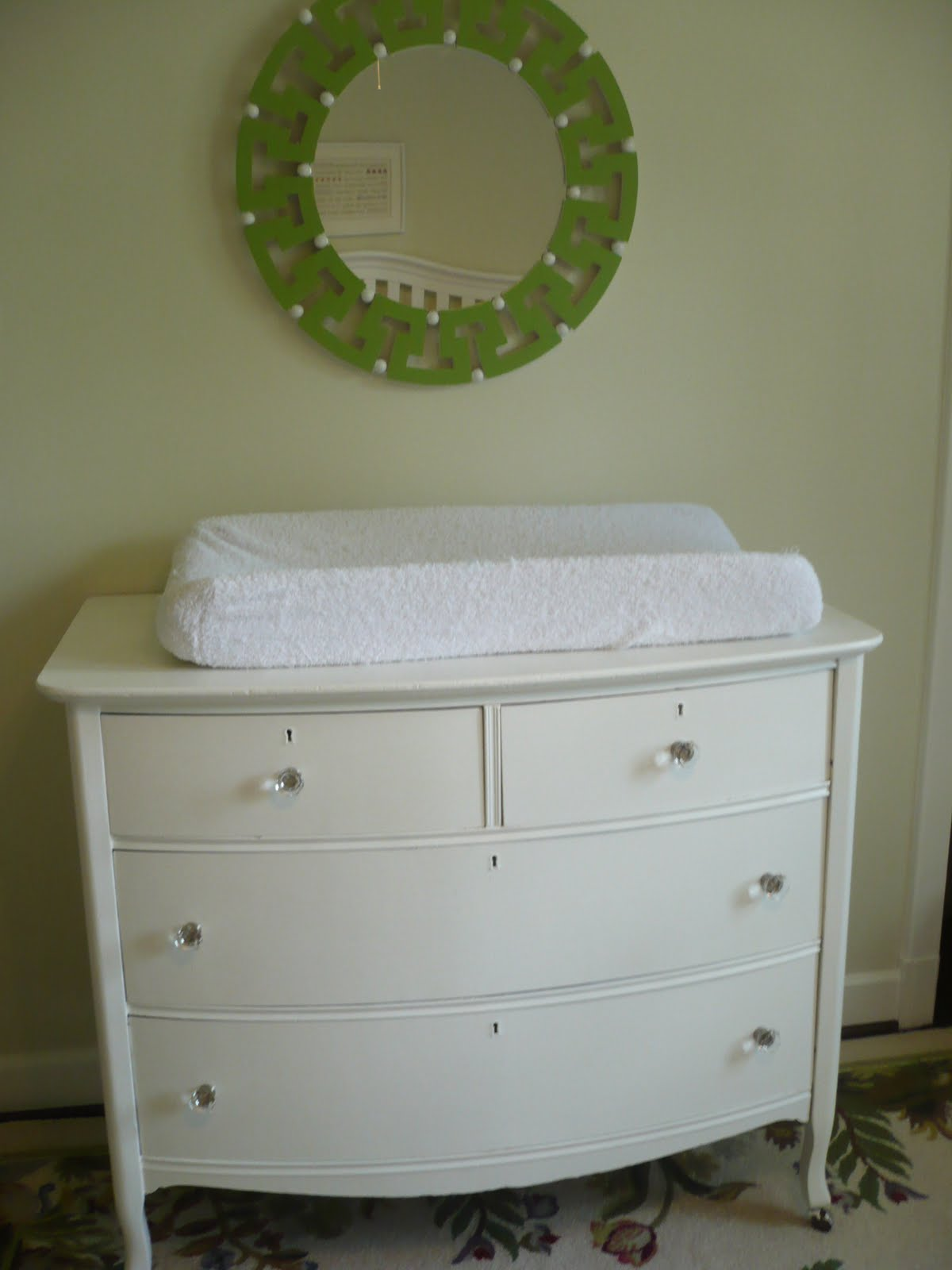 Painting An Antique Dresser For The Nursery And Mirror
