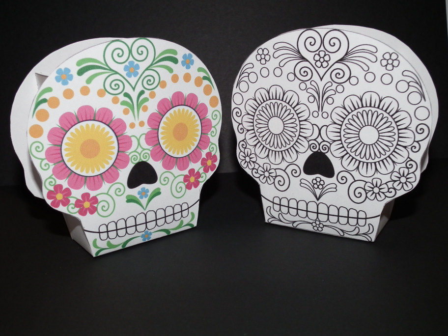 Don\'t Eat the Paste: Día de los Muertos Sugar Skull Boxes