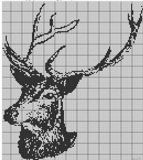 Схема вязание олени