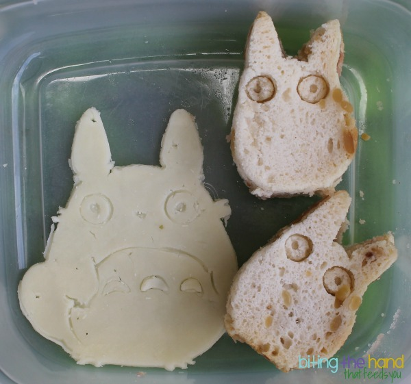 My Neighbor Totoro cookie cutter cheese and sandwich