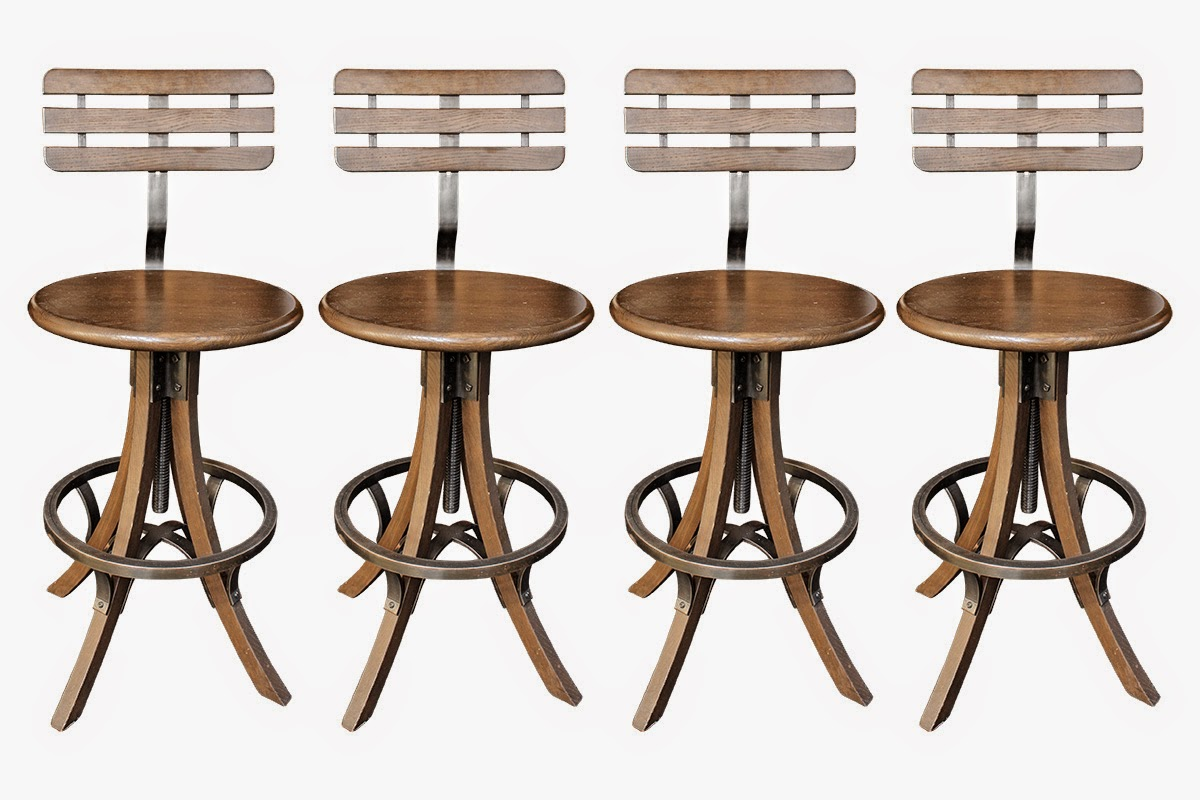 nest by tamara a big giveaway a chance to win these four beautiful wood metal bar stools. Black Bedroom Furniture Sets. Home Design Ideas