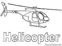Gambar Mewarnai Helycopter Gratis Untuk Anak SD