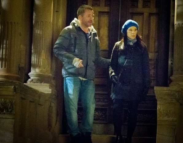 Sean Pertwee guest stars as Gareth Lestrade with Lucy Liu as Joan Watson in CBS Elementary Season 2 Episode 17 Ears To You