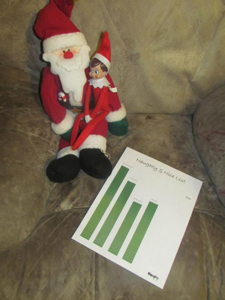 Holiday Memories: Day 14: Elf On The Shelf Naughty & Nice List