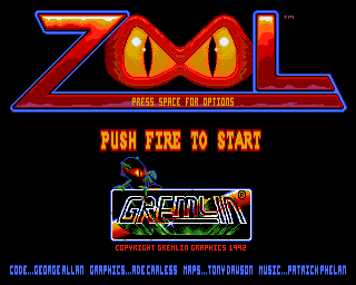 Zool Amiga title screen screenshot