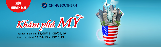 Đặt ngay vé máy bay đi Mỹ giá rẻ - chỉ từ 450 USD của China Southern Airlines