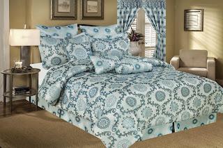 9 Piece Queen Santa Fe Jacquard Comforter Set