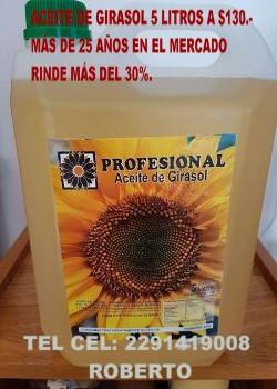 ACEITE DE GIRASOL PROFESIONAL