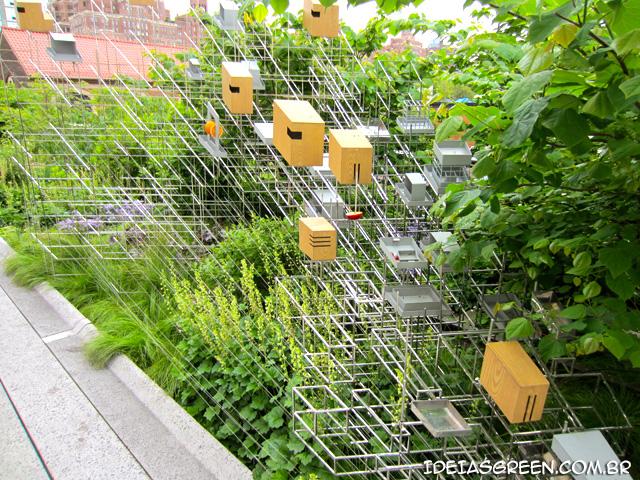 Comedouro para pássaros do  The High Line Nova York