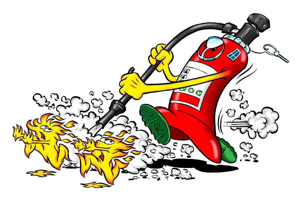 Cartoon Fire Extinguisher Cartoon fire extinguisher