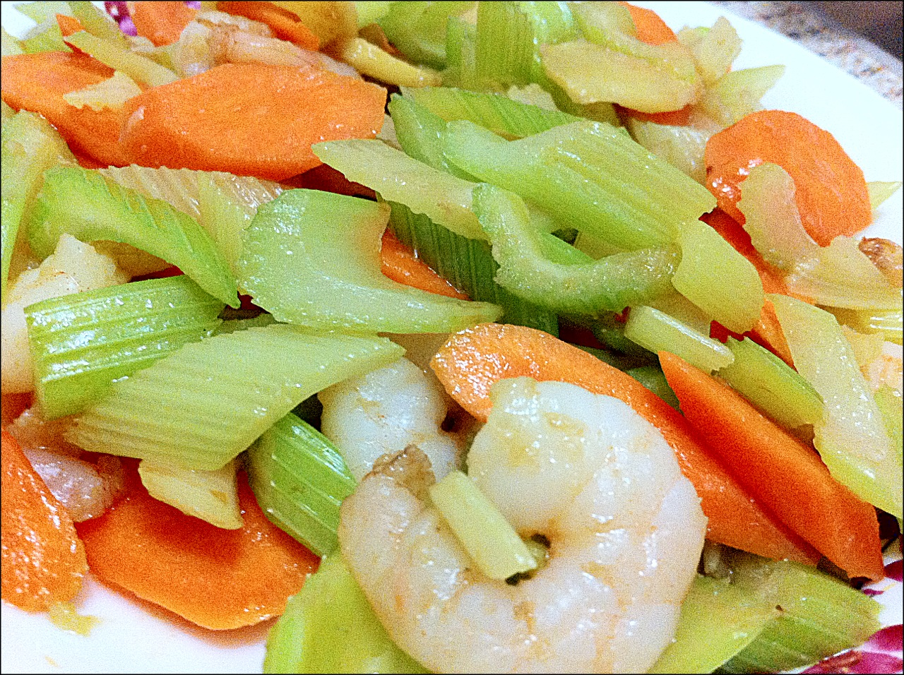 My Little Cookery Book: Stir Fried Celery with Shrimp
