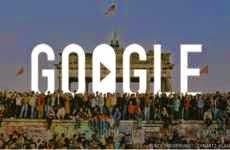25 Aniversario de la Caída del Muro de Berlín: Google lo conmemora con un emotivo doodle
