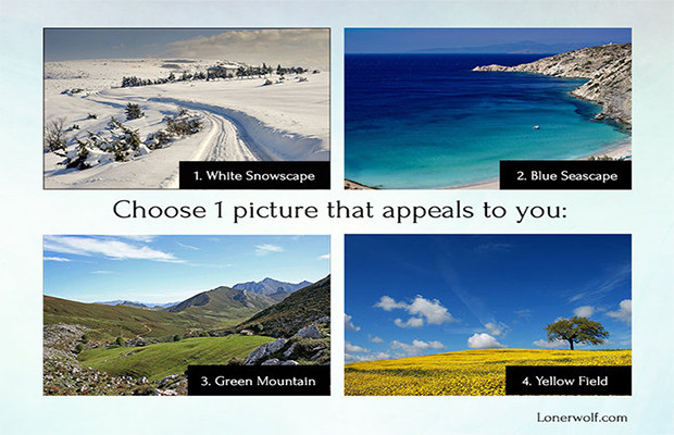 Choose A Picture And Discover What It Reveals About You