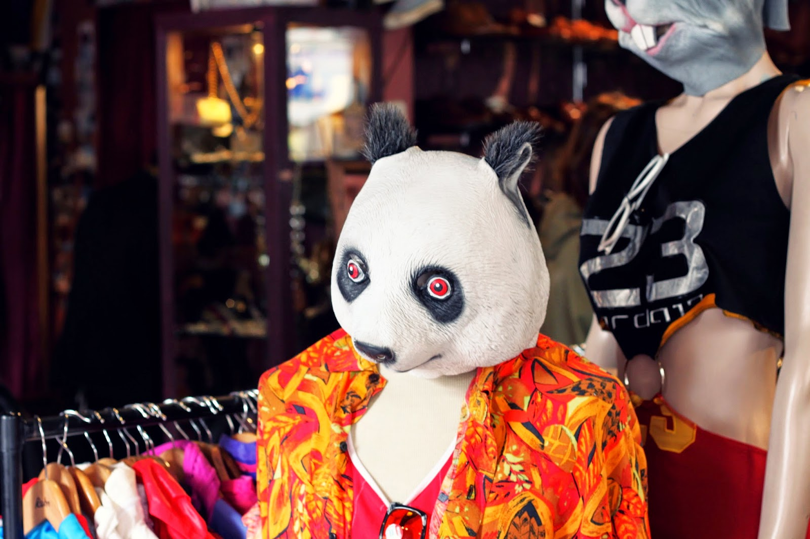Vintage Store, panda head, visual merchandising, London