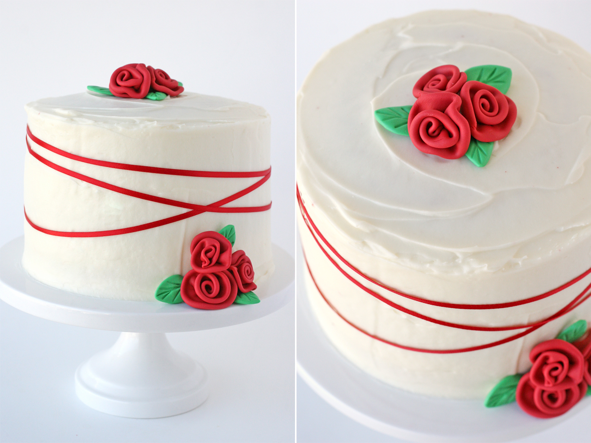 Cake Design In Red Ribbon : Red Velvet Cake {Recipe}   Glorious Treats