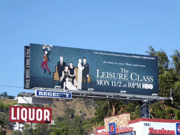 Leisure Class HBO movie billboard