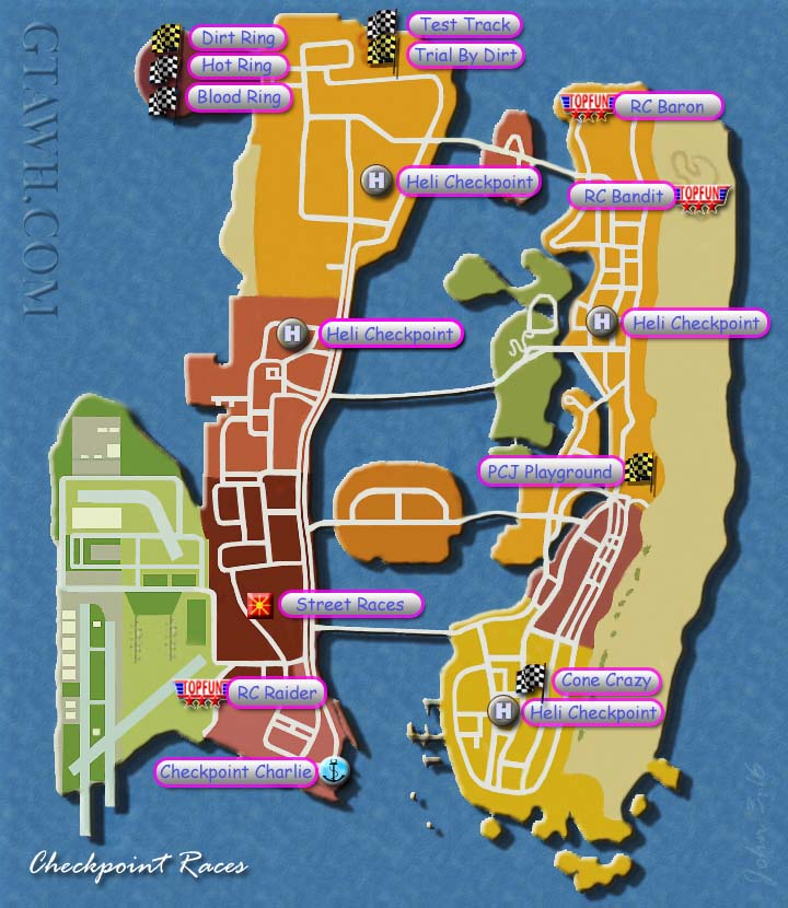 Vice City Map Properties GTA Vice City: ...