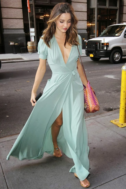 Electric Blue Color Maxi Dress With Two Pockets