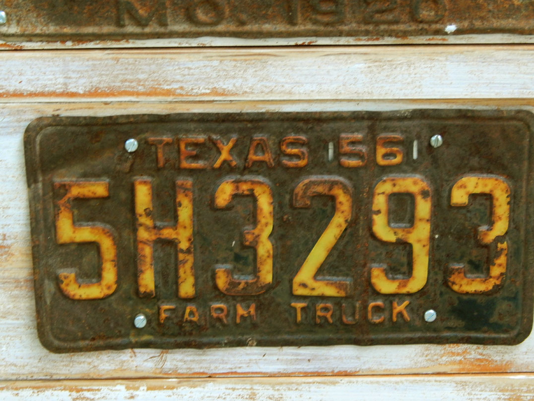 I Had Been Hanging On To These Well Worn License Plates For Awhile, Waiting  For A Nice Flat Front Dresser To Use Them On. I Switched Out The Ugly  Painted ...