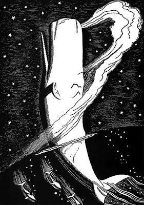 'Moby Dick Rises', illustrazione di Rockwell Kent, 1930
