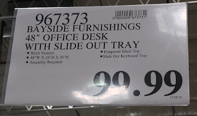 Deal for the Bayside Furnishings Computer Desk at Costco