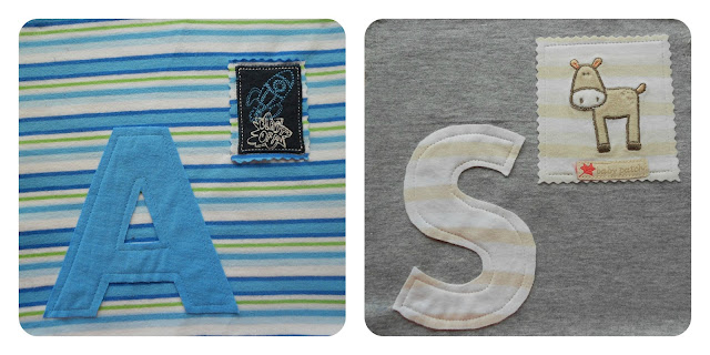 Memory quilt for boy