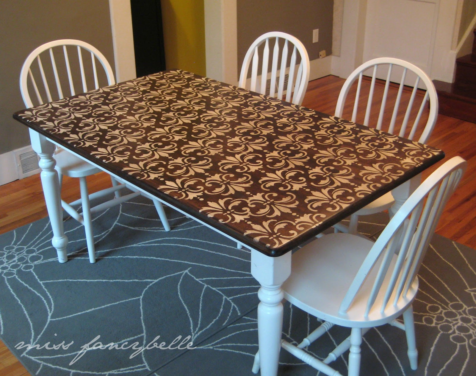 Hand Painted Kitchen Tables And Chairs My Web Value