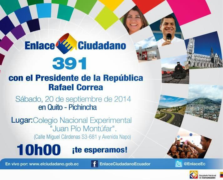 cadena sabatina de Rafael Correa 20 septiembre 2014