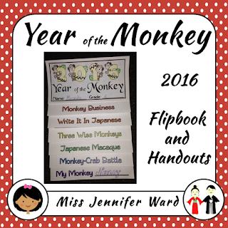 https://www.teacherspayteachers.com/Product/Year-of-the-Monkey-Flipbook-NO-PREP-2265840