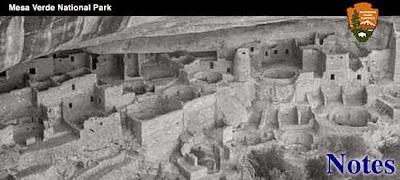 La nota del Parco Nazionale di Mesa Verde
