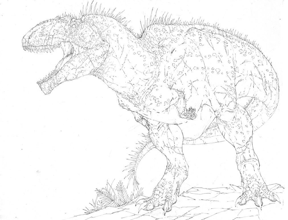 Extinct animal of the week titanic children 39 s resources for Carcharodontosaurus coloring page