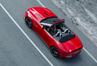 2013 Jaguar F-Type V8S red aerial view